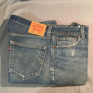 Levi 505  regular fit zipper front jeans #6